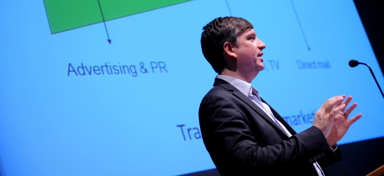 Jon Reed speaking at Publishing Scotland Conference 2012