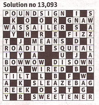 Guardian Quick Crossword - Solution 13,093 (26 April 2012)